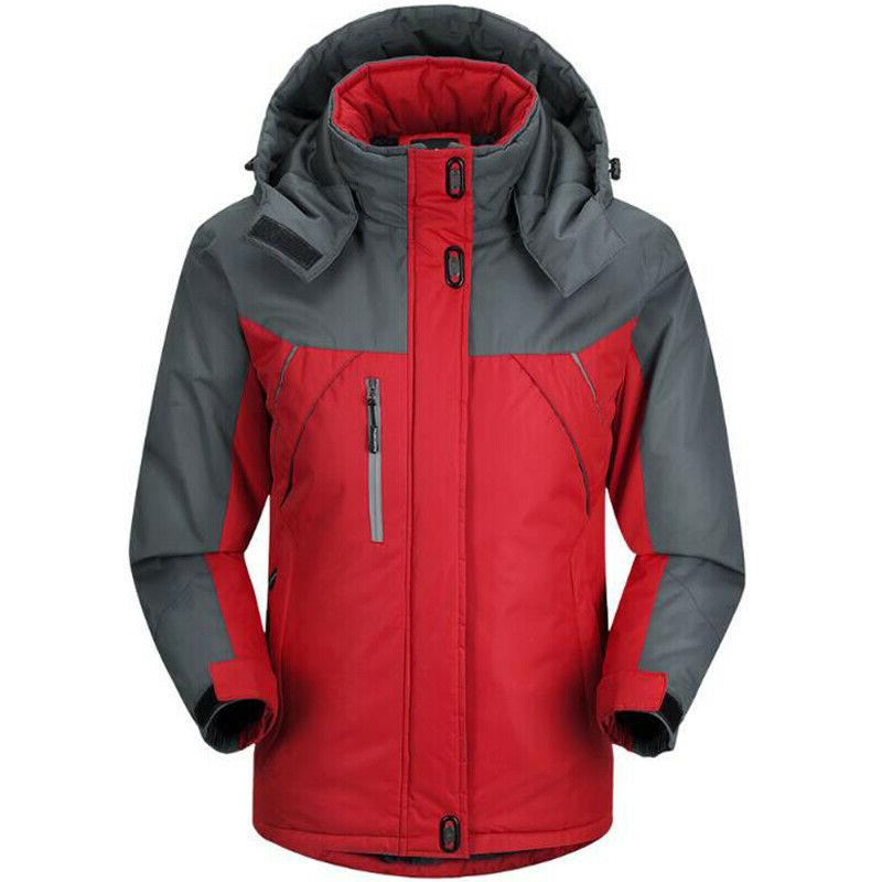 Mens Winter Warm Jacket Ski Hooded New