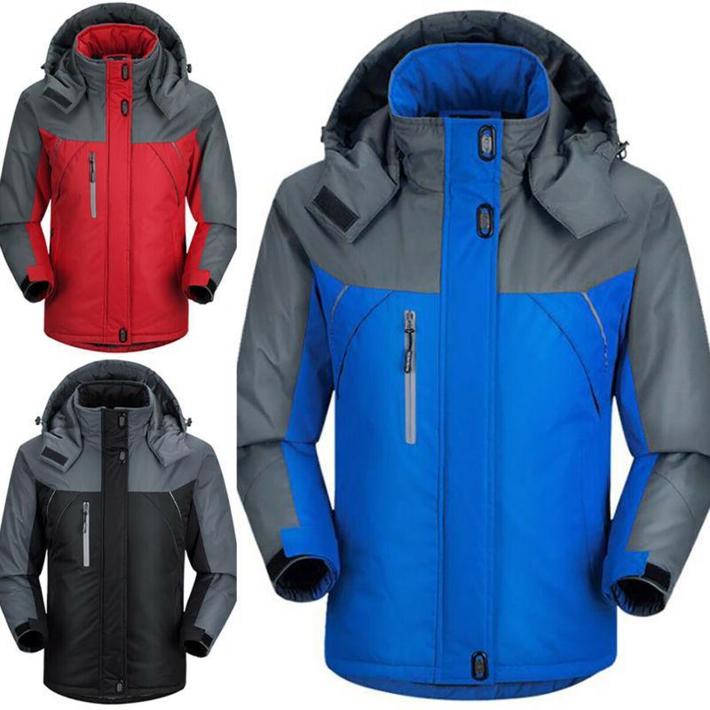Mens Winter Jacket Hooded Coat New