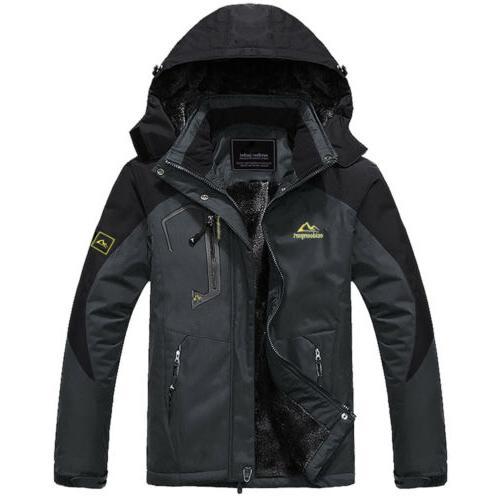 Men's Thermal Fleece Jacket Outdoor Mountain Ski Snowboard J