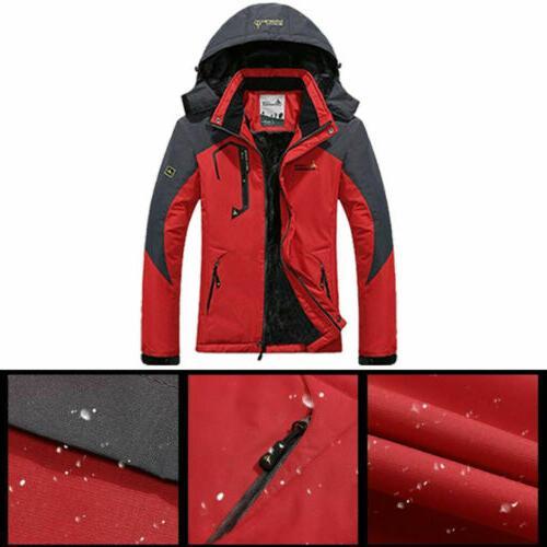 Men's Waterproof Snow Jacket Warm Hiking Ski Coat