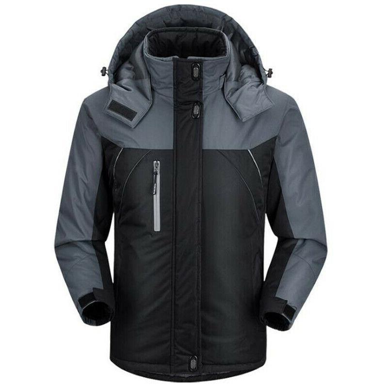 Mens Jacket Ski Hooded Coat New