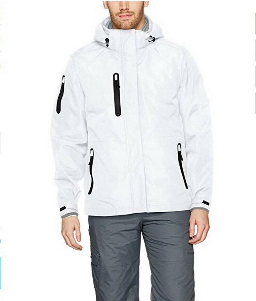 mens insulated ski jacket coat white small