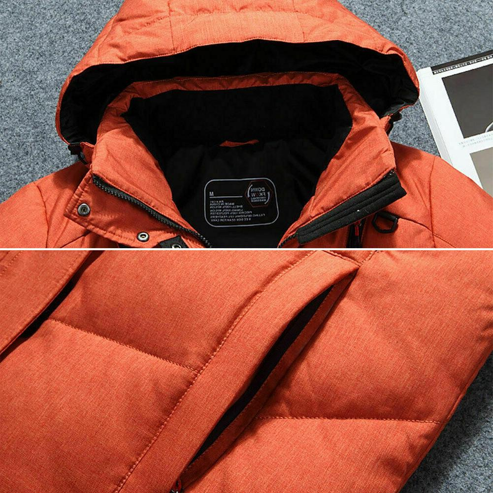 Mens Warm Down Jacket Snow Puffer Coat