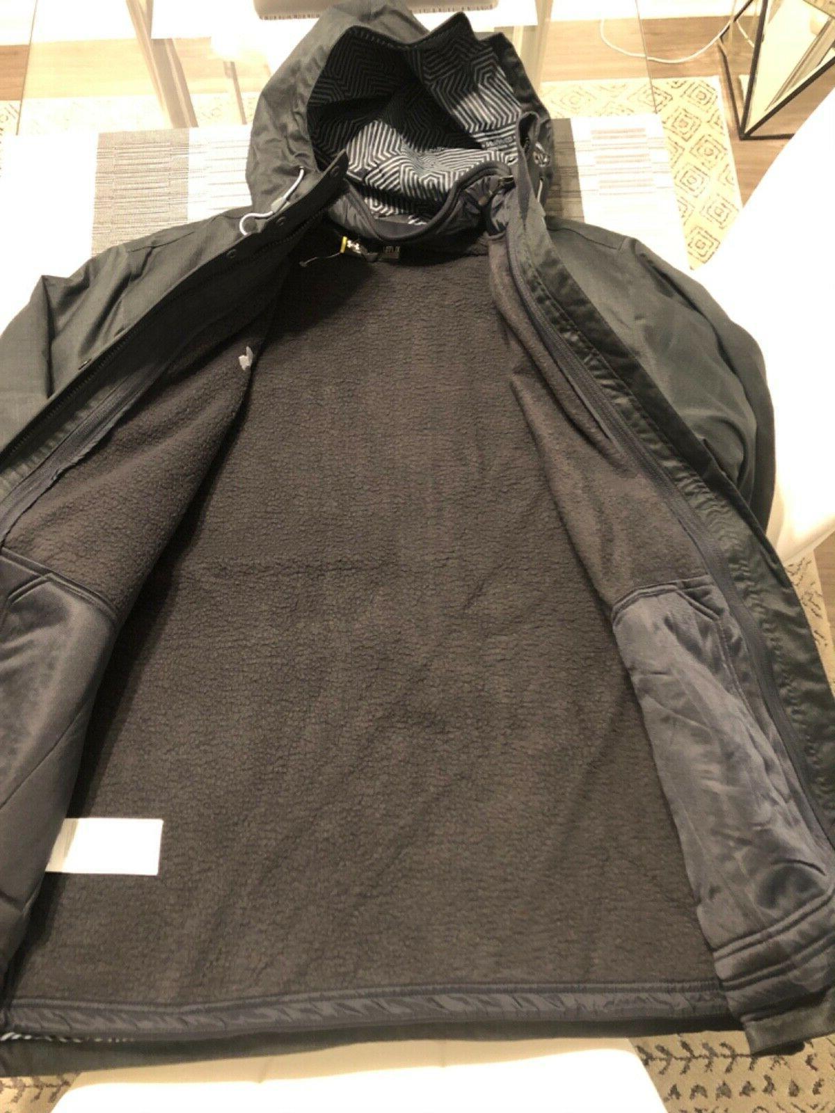New Men's Armour Porter 3-in-1 Jacket Black X-Large XL Ski
