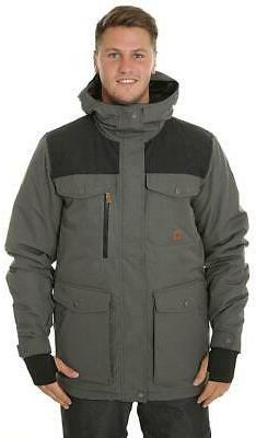 New Quiksilver Raft Snowboard/Ski Jacket Coat L Gray Heather