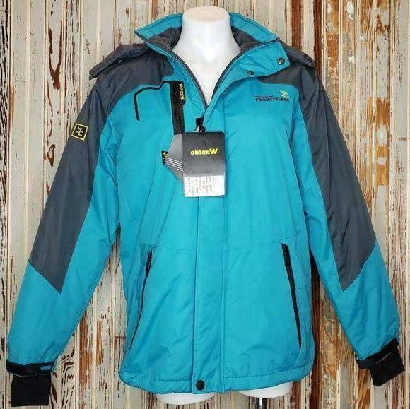 nwt waterproof ski jacket w hood women