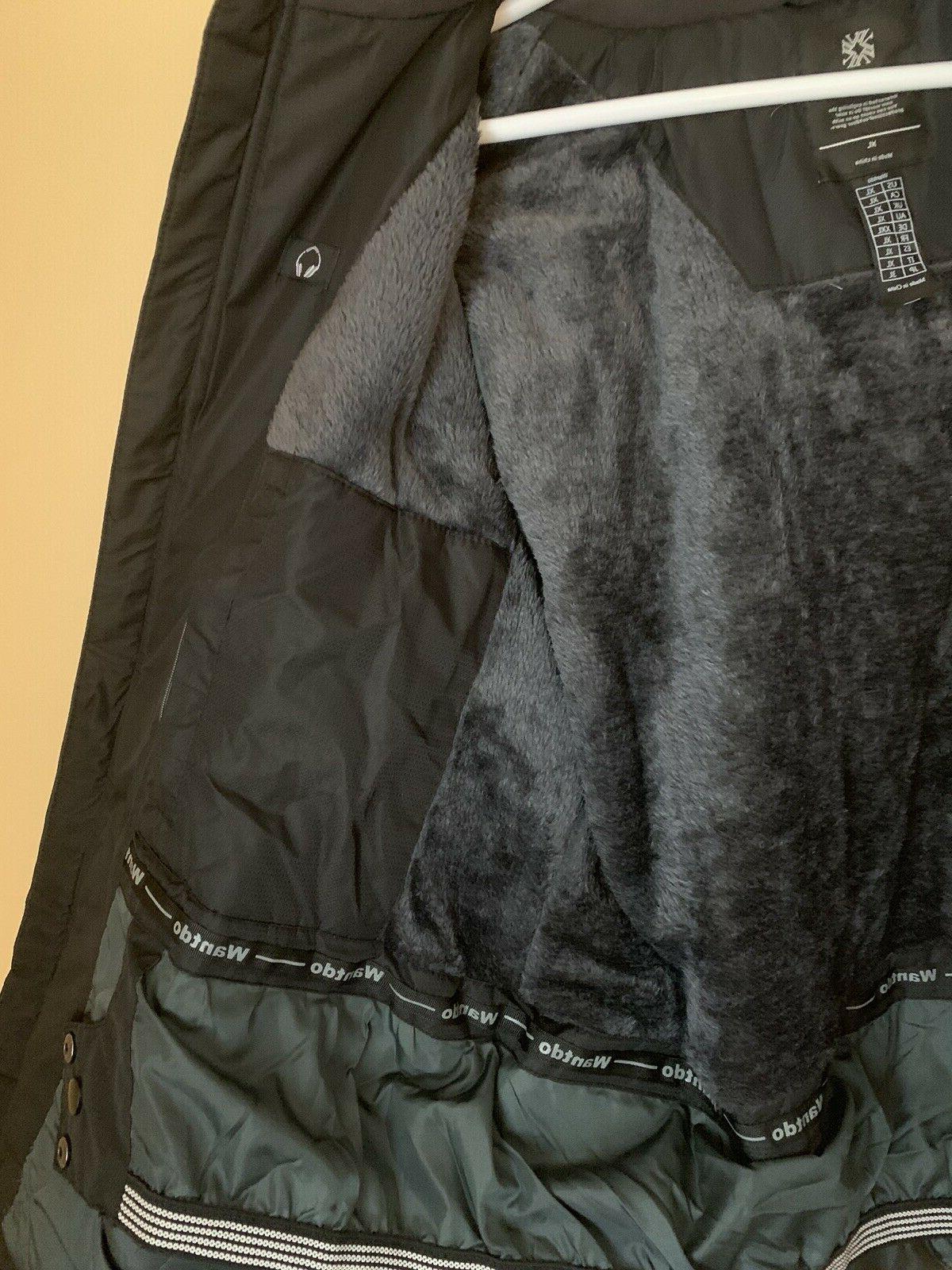 Waterproof Windproof Parka Coat Black