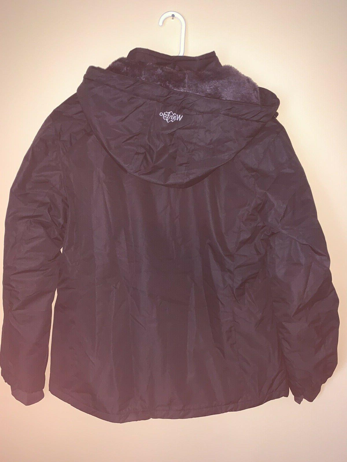 NWT Waterproof Ski Jacket Windproof Parka Coat Black