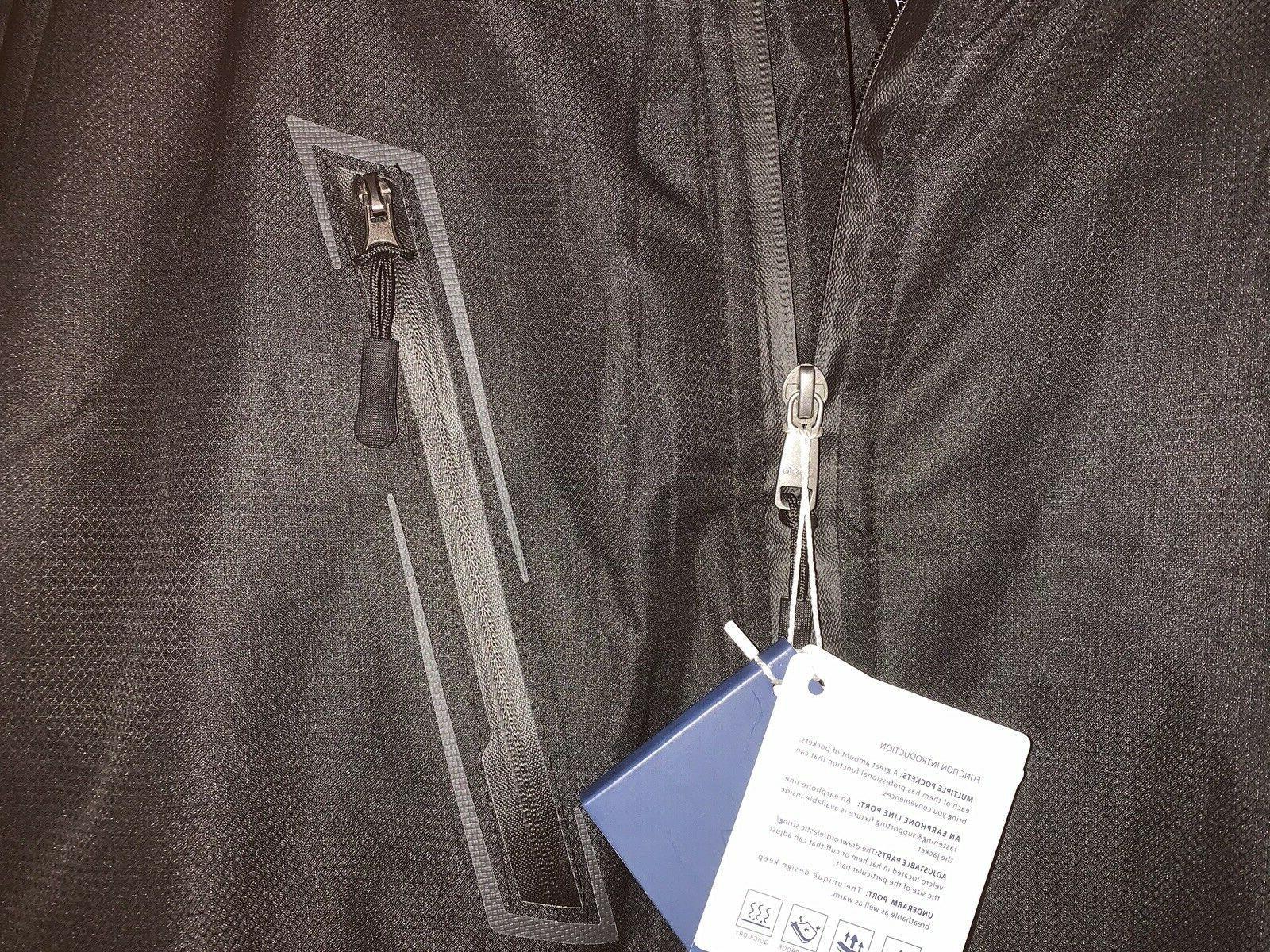NWT Waterproof Fleece Windproof Parka Coat XL Black