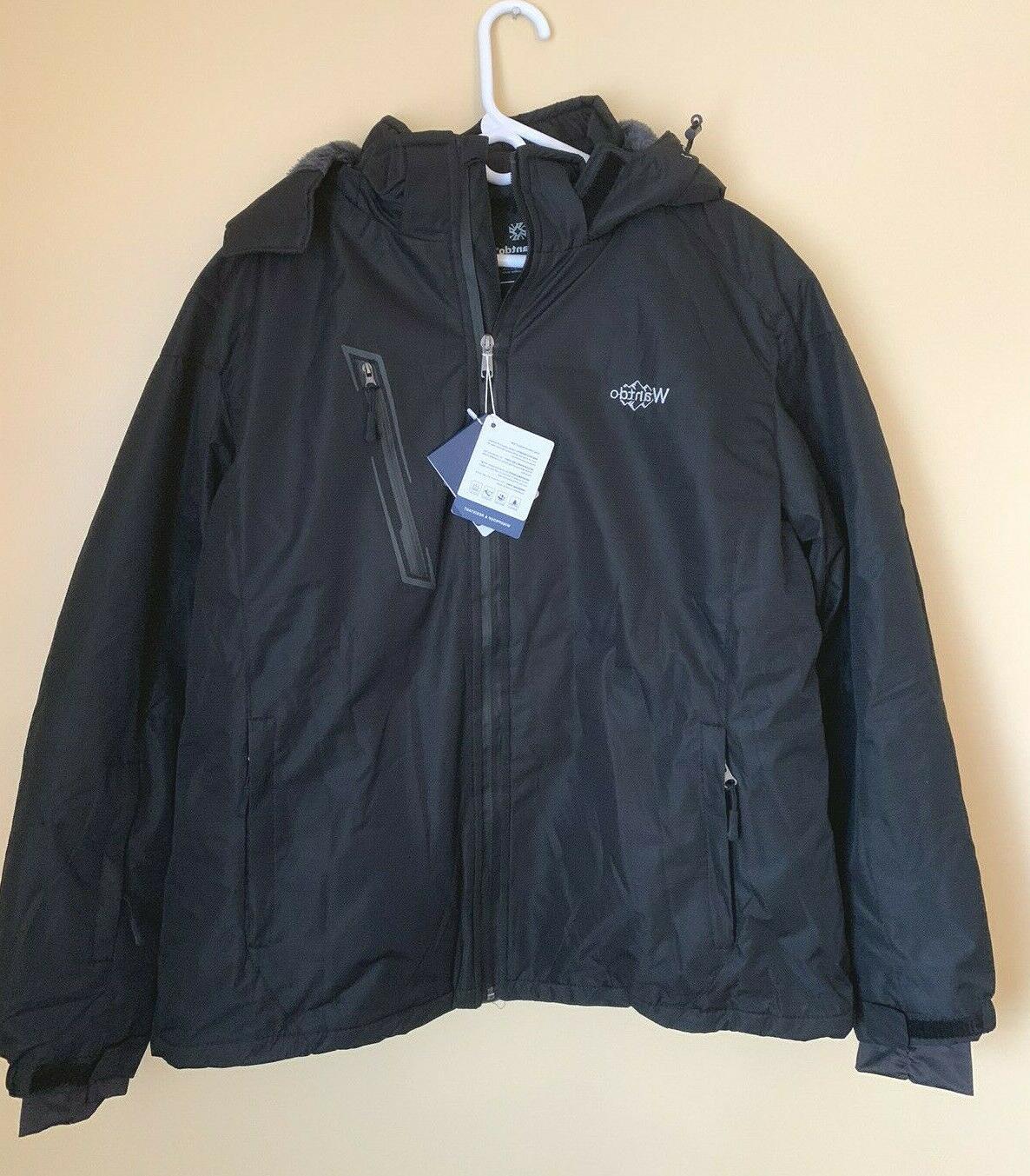 nwt women s waterproof ski fleece jacket