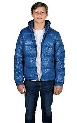 SCOTCH & SODA Men's Zip-up Down Feather Hooded Jacket Ski Pa