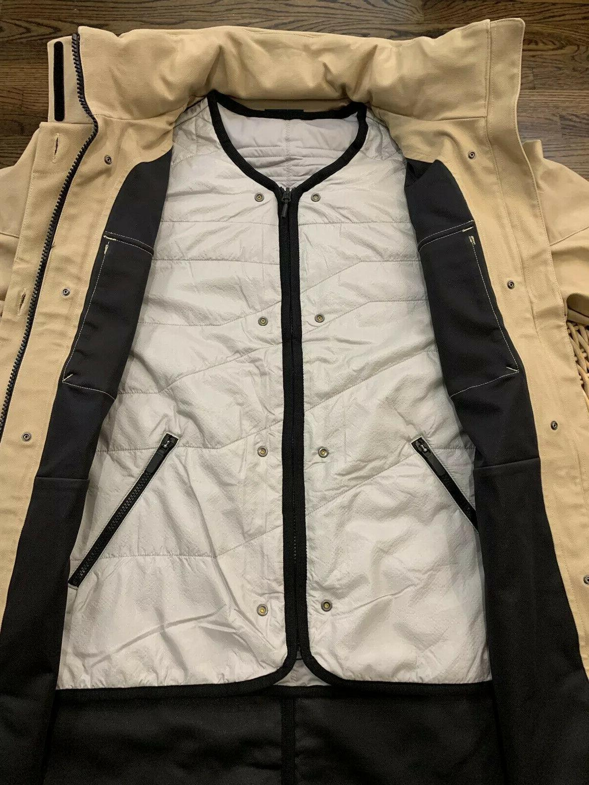 Under Washed 3-in-1 Parka Jacket Tan Size Large