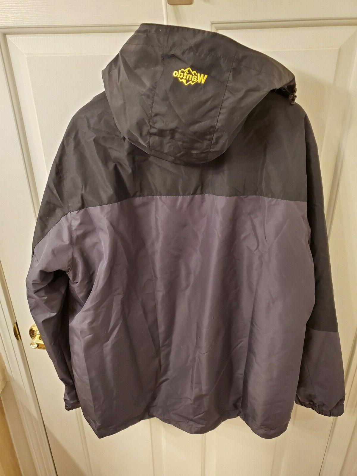 Wantdo Men's Mountain Ski Windproof Rain Jacket Black