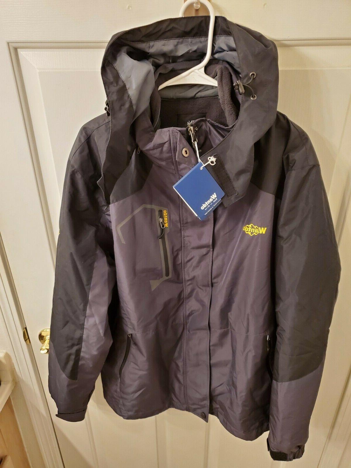 wantdo men s mountain ski jacket windproof