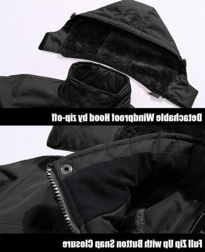Waterproof Mountain Men's Winter Hooded Thermal Outwear