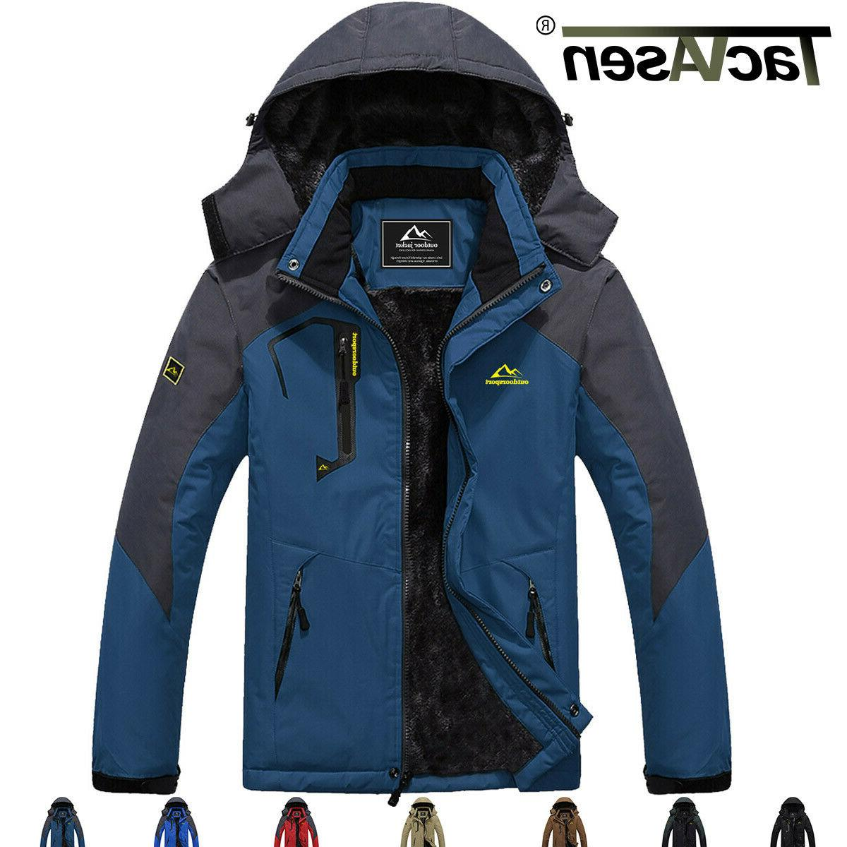 windproof winter mens fleece jacket outdoor ski
