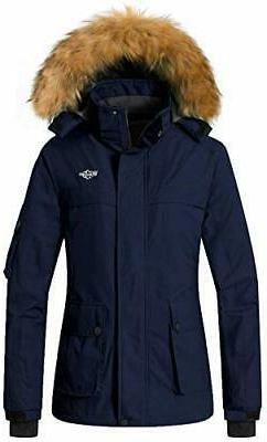 women s warm parka mountain ski fleece
