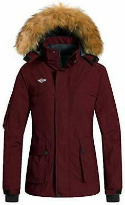 Wantdo Women's Warm Parka Mountain Ski Fleece Jacket Waterpr