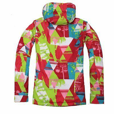Women Waterproof Ski Snowboard Coat Winter Warm BS
