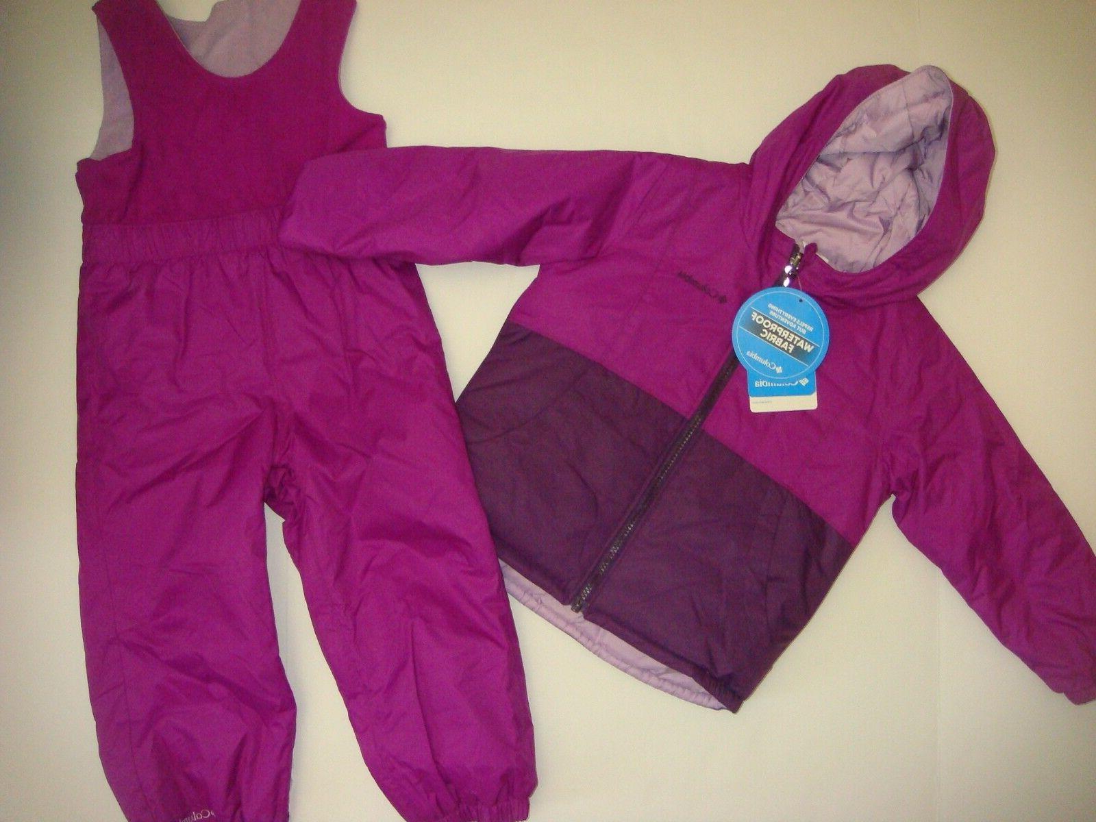 youth girls ski snow jacket reversible bib