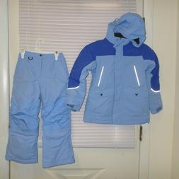 Land's End Squall Girls Size 6x-7 BLUE Snowsuit Jacket and