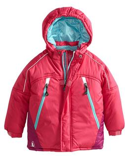 Rugged Bear Little Girls' Solid Ski Jacket, Fuchsia, 4T