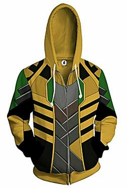 Loki Character Themed Adult Jacket Hoodie
