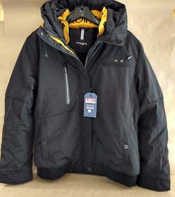 Men Mountain Waterproof Ski Jacket Hood Windproof Fleece Win