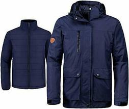 Wantdo Men's 3-in-1 Ski Jacket Interchange Snow Coat Waterpr