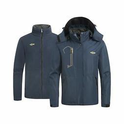Wantdo Men's 3 in 1 Ski Jacket Warm Winter Snowboarding Coat