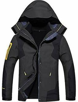 GEMYSE Men's 3 in 1 Waterproof Ski Snow Jacket Fleece Liner