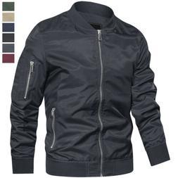 Men's Casual Windbreaker Lightweight Spring Sportswear Baseb