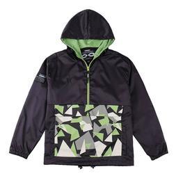 Men's Hooded Kangaroo Pocket Side Entry 1/2 Zipper Popover W