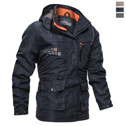 Men's Hooded Thin Hiking Jacket Waterproof Outdoor Ski Coat