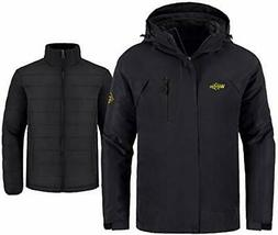 Wantdo Men's Interchange 3 in 1 Ski Jacket Waterproof Coat L