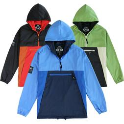 Men's Lined Hiking Water Resistance Windbreaker Pullover Lig