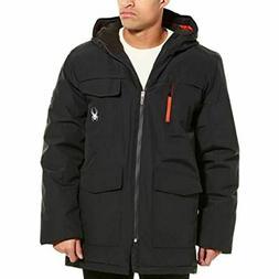 Spyder Men's Parka Jacket Black Red NWT Ski Winter