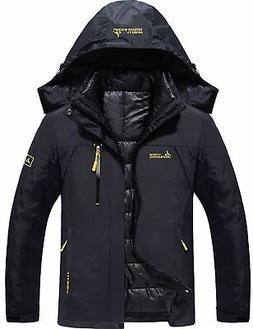 GEMYSE Men's Waterproof 3-in-1 Ski Snow Jacket Puffer Liner
