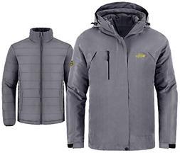 Wantdo Men's Windproof 3-in-1 Jacket Waterproof Windbreaker