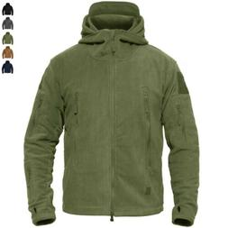Men's Windproof Fleece Tactical Hiking Jacket Outdoor Hooded
