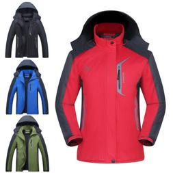 Men's Winter Ski Jacket Snow Hiking Thick Hooded Waterproof
