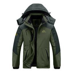 Men's Winter Ski Snowboard Jacket Warm Fleece Lined Hooded H