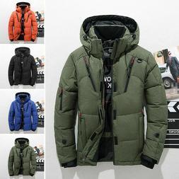 Men's Winter Warm Duck Down Jacket Ski Jacket Snow Hooded Co