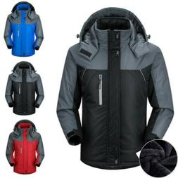 Men's Winter Warm Ski Jacket Snow Hiking Thick Hooded Waterp