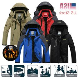 Men's Winter Waterproof Snow Jacket  Windbreaker Warm Hiking
