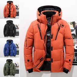Men Winter Warm Duck Down Jacket Ski Jacket Snow Thick Hoode