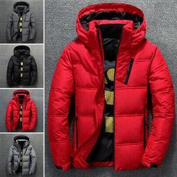 Men Winter Warm Duck Down Jacket Ski Thicken Snow Thick Hood