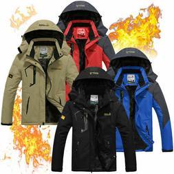 Mens Fleece Jackets Winter Thermal Skiing Mountain Waterproo