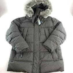 Mens Heavy Down Parka Jacket Faux Fur Waterproof Spire Alast