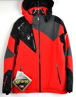 Spyder Mens Leader Gore-Tex Snow Ski Jacket 181718 Red Cloud